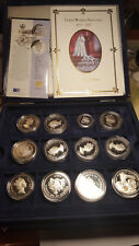 1997 Golden Wedding Anniversary Silver Proof Collection - Full Set