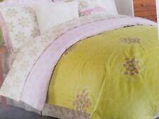 NEW AMY BUTLER MODENA GREEN PINK TWIN DUVET COVER SHAM  & BEDSKIRT