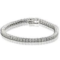 1 Row Women's Tennis Bracelet with Natural Round Diamonds White Gold Finish 0.25