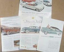 Original 1953/1955/1958 DeSoto Automobile Magazine Ads