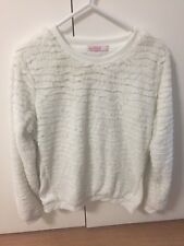 Supre White Fluffy Jumper