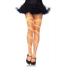 LA-6325 Sexy Orange Swirl Diamond Net Thigh High Stocking Gogo Dancer Raver Wear