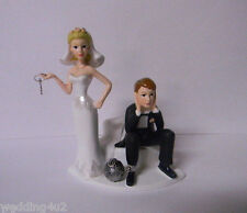 Wedding Party Reception ~Ball & Chain Cake Topper 50% off Damaged- But Repaired