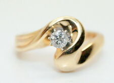 Women's 14K Gold .20 Carat Solitaire Diamond Wedding/Engagement Ring Size 6.75