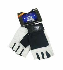 Iron Tanks Men's Premium Leather Weightlifting Gloves | Workout Training