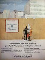 PUBLICITÉ 1966 SOCIÉTÉ GÉNÉRALE ÉPARGNE LOGEMENT PRÊTS IMMOBILIERS - ADVERTISING