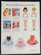 Vintage Betsy McCall Mag. Paper Doll, Betsy Has her Picture Taken, Sept. 1953