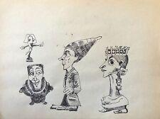 Jeux d' échecs  Dame et Fou anonyme échec dessin à l'encre milieu XXe