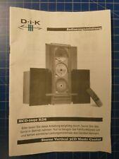 D-i-K Bedienungsanleitung HCD-2050 RDS H-15979