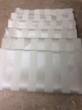 """NAPKINS BEIGE STRIPE SHINY SHEEN 17"""" SQUARE CLOTH FORMAL FANCY UPCYCLE FUN!"""