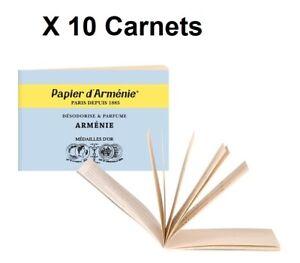 Lot 10 Carnets Arménie Bleu - PAPIER ARMENIE