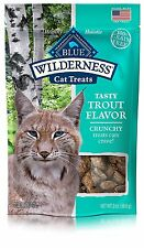 [12-Pack] 2oz Blue Buffalo Wilderness Cat Kitten Treats Crunchy Trout Snack Food