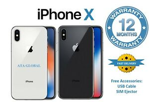 Apple iPhone X - 64GB 256GB - Smartphone - Unlocked - All Grades - All Colours