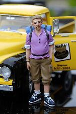 77744 American Diorama Zaino turista viaggiatore Joe Traveller Backpacker 1:24