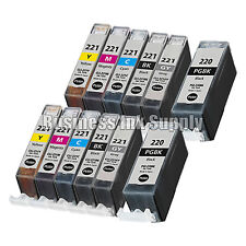 12* PACK PGI-220 CLI-221 Ink Tank for Canon Printer Pixma MP980 MP990 NEW