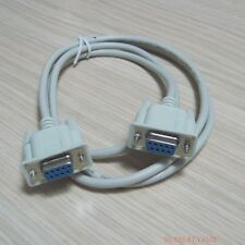 New Serial Ribbon 9 pin RS232 Com Port female Cable cord connector DB9 9P 1.5m
