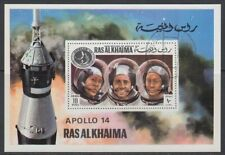 Ras al Khaima 1972 used Bl.127 Apollo 14 Rückkehr Return Weltall Space Astronaut
