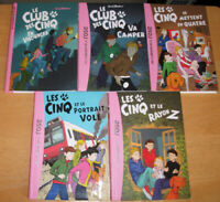 Lot de 5 bibliothèque rose - Le club des cinq de Enid Blyton