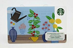 Starbucks Coffee 2014 Gift Card Spring Watering Flowers Vase Mug Zero Balance