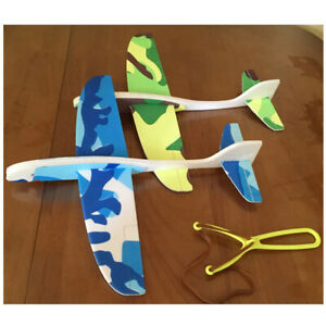 Glider Airplane Catapult Toy Plane Model Foam Bubble Launcher Toys Kids Outdoor