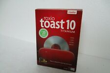 Roxio Toast 10 Titanium Software Util Burn Copy Listen Watch for Mac 242600 NEW