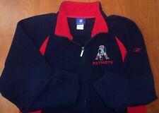 Reebok NFL New England Patriots Football Throwback Logo Fleece Zip Jacket L