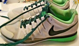 Nike 631458 Air Zoom Men Size 9 Vapor 9.5 Tour Grey Green Tennis Court Shoes