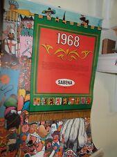 Super Rare Vtg 1968 JEAN DRATZ Artist Sabena Belgian World Airlines Calendar