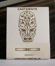 Rare Vintage Matchbook C3 Las Vegas Nevada Castaways Polynesian Exotic Mask Art