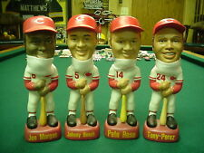 Reds Machine Set of 4 Bobbing Nodder Head SAM RARE