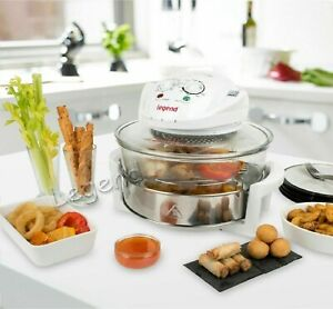 17Litre High Quality Halogen Convection Oven Cooker Extend Ring Air Fryer white