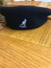 Kangol Black Flat Cap Beret Wool 504 Size large Samuel L Jackson Style
