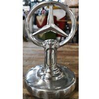 Aluminium Mercedes-Benz hood emblem mascot Classic Car Aluminium Desk Top Stand