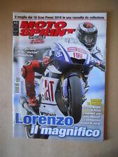 MOTOSPRINT n°45 2010 Speciale un anno di Moto Gp   [MS10]