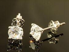 375 Gold Ohrstecker 1 Paar 5mm Grösse 4 Krappen mit Zirkonia Steinen