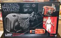 Star Wars The Black Series 6-inch Rey's Speeder with Rey (Jakku)