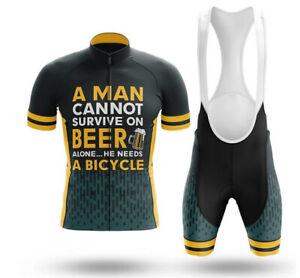 Beer & Bicycle  Men's Novelty Cycling Kits