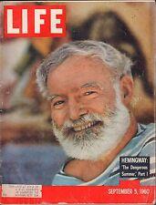 Life September 5 1960 Hemingway The Dangerous Summer Pt.1 w/ML VG 093016DBE