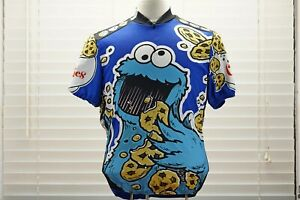 Pearl Izumi Sesame Street 2005 Adult Med Cycling Cookie Monster Jersey #0585