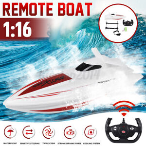 RC Boat 2.4GHz Electric High Speed Remote Control Racing Boat for Adult Kids