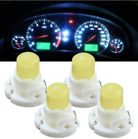 4* T4 Neo Wedge Climate Base Cluster Instrument Dash Bulbs LED Light Lamp White