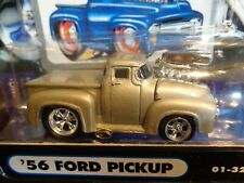 1956 FORD PICKUP SILVER MUSCLE MACHINES 1/64 NEW IN USED PACKAGE
