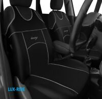 VAUXHALL ASTRA J MK6 2009-2015 ECO LEATHER FRONT SEAT COVERS VEST T-SHIRT