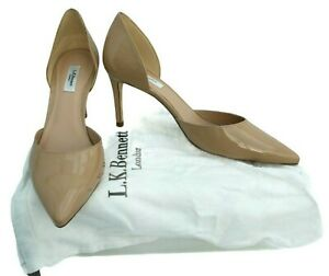 L. K. Bennett Court shoes Size 8 Beige Patent Leather heels Flossie Trench