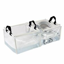 Portable Dish Sink Wash Basin Double Folding PVC Kitchen Camping Outdoor