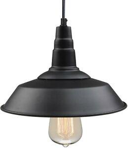 LNC 1-Light Black Indoor Ceiling Barn LED Pendant Light A0190701