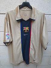 VINTAGE Maillot BARCELONE BARCELONA camiseta n°7 années 90 NIKE shirt LFP L or