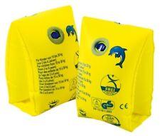 Paire brassards gonflable jaune 2 chambres doubles Wehncke pour sécurité enfants