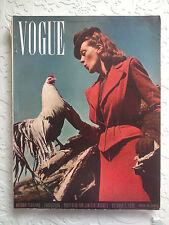 VOGUE US October 1,1939 Autumn Fashions Collection Vintage Fashion Mode
