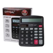 Solar Calculator Business Battery Powered 12 Digit Electronic Desktop Calculator